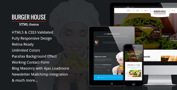 ThemeForest Burger House Restaurant HTML Template 11806443