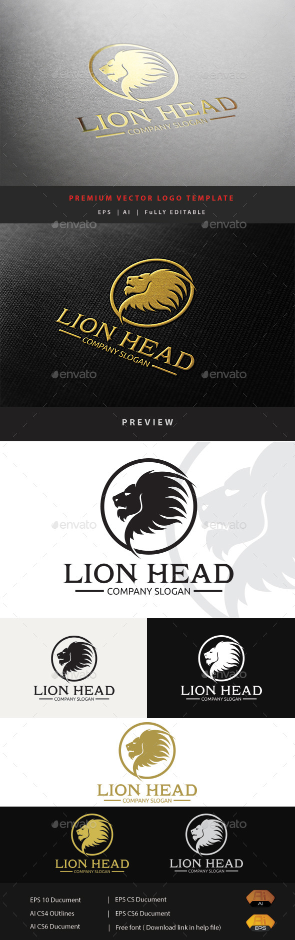 GraphicRiver Lion Head 11863515