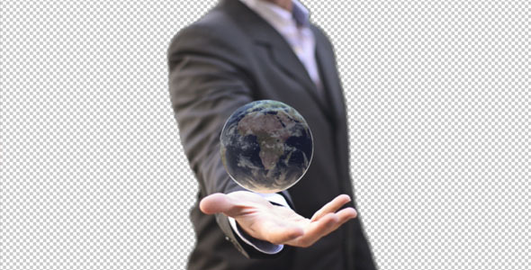 Business Executive Man With World In Your Hand