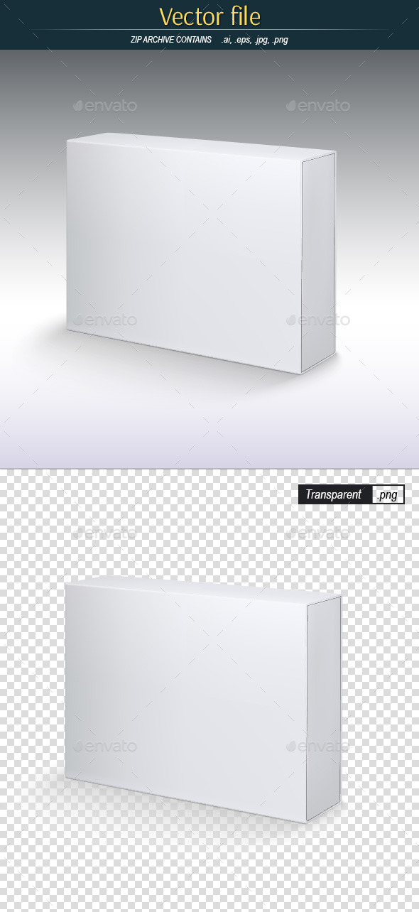 GraphicRiver White Box Vector Template for Preview 11863776