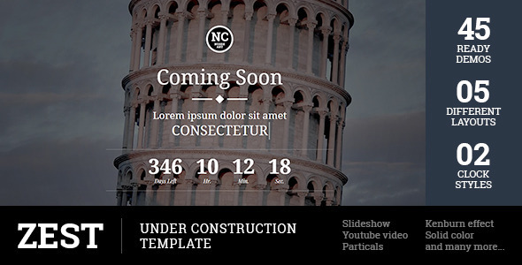 Zest - Under Construction Template