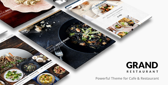 ThemeForest Grand Restaurant Restaurant Cafe Theme 11812117