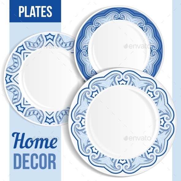 GraphicRiver Set Of Decorative Plates 11863906