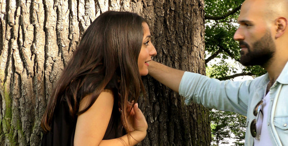 VideoHive Couple Had an Argument near the Tree 11863984
