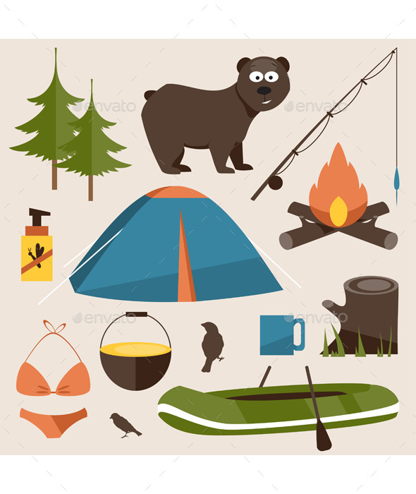 GraphicRiver Camping Set 11864055