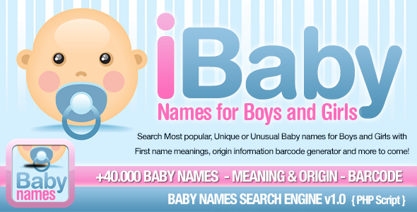 CodeCanyon Baby Names Search Engine 11864316