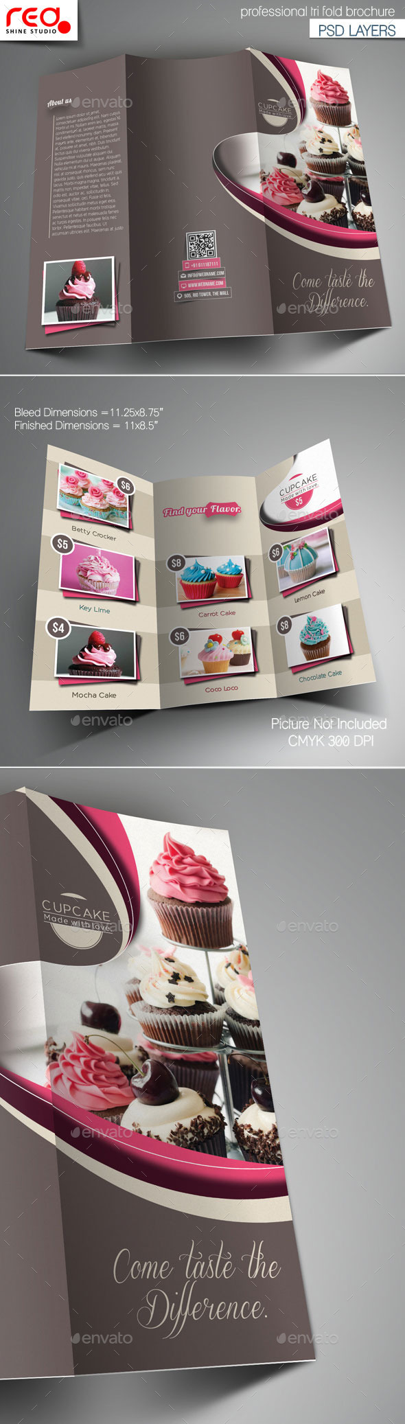 GraphicRiver Cupcake Trifold Brochure Template 1 11864326