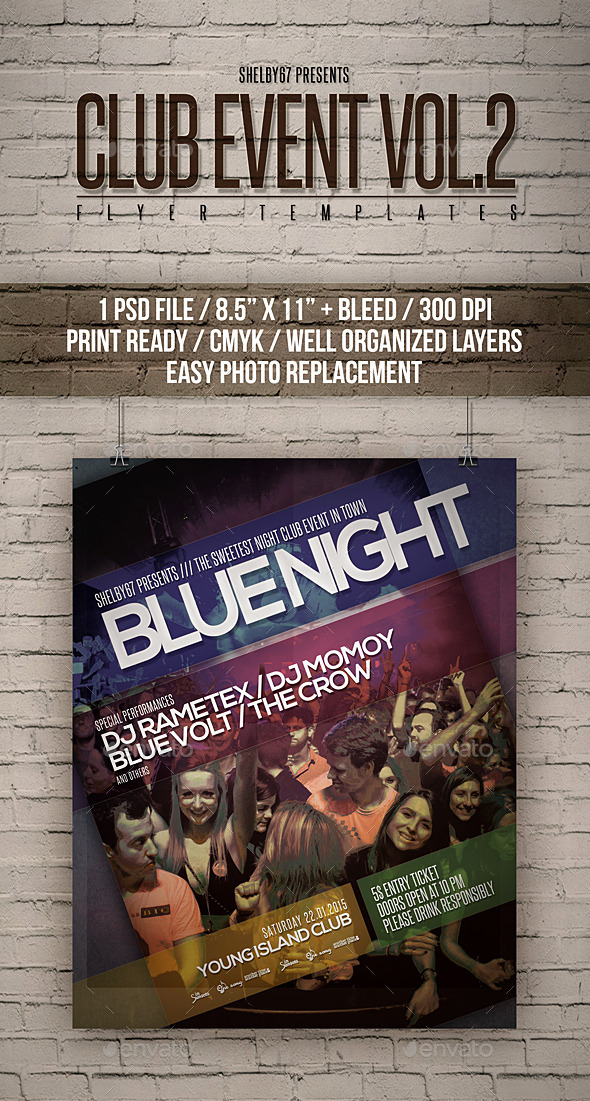 GraphicRiver Club Event Flyer Templates Vol 2 11864389