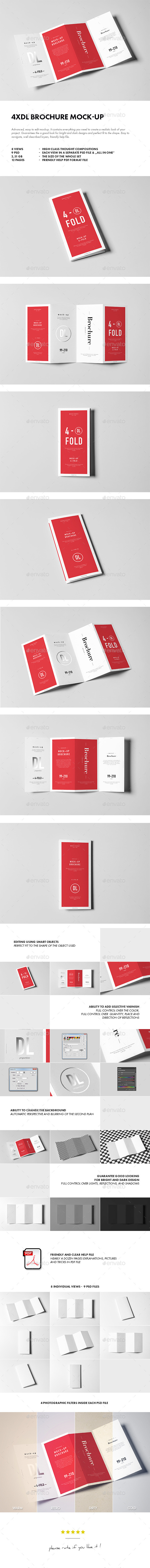 GraphicRiver 4xDL Brochure Mock-up 11864582
