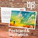 Postcard & Invitation Mock-up - GraphicRiver Item for Sale
