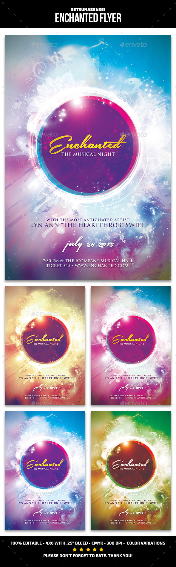 GraphicRiver Enchanted Flyer 11865138