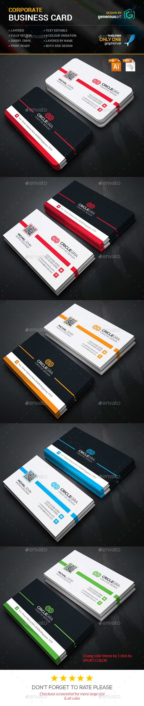 GraphicRiver Criclegra Corporate Business Card 11865180