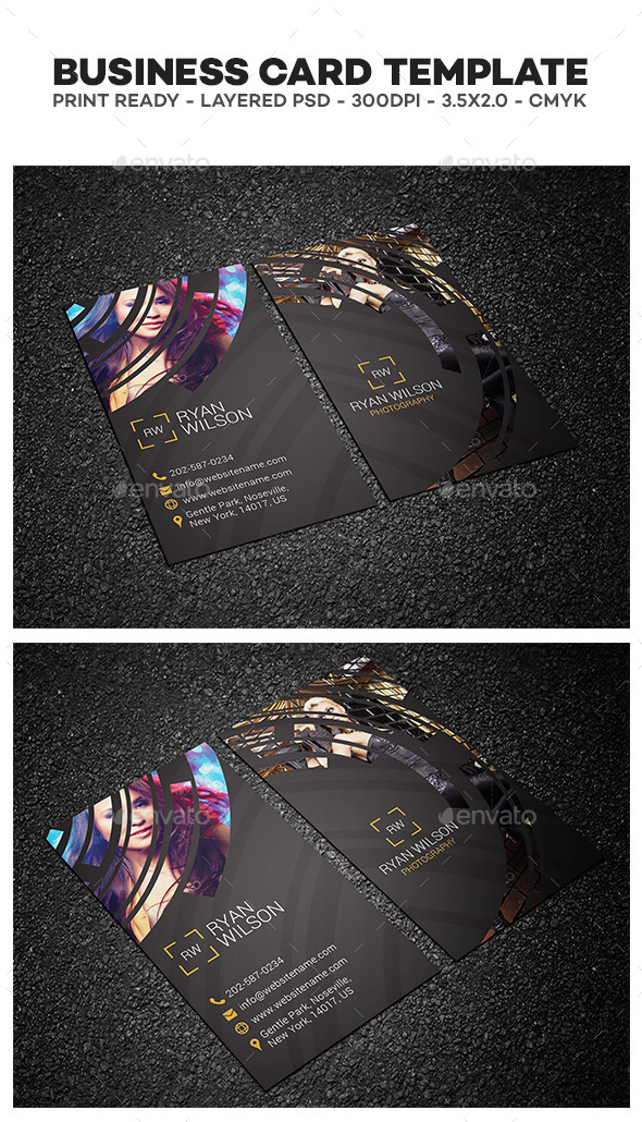 GraphicRiver Photography Business Card 11865538