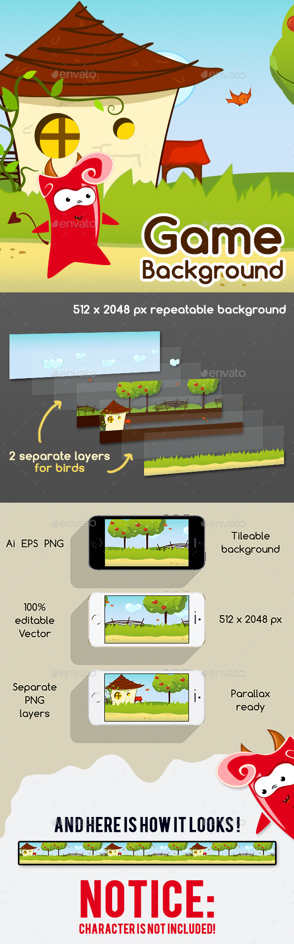 GraphicRiver Game Background with Parallax Effect 11865576