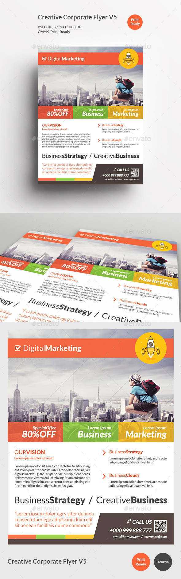 GraphicRiver Creative Corporate Flyer V5 11865621
