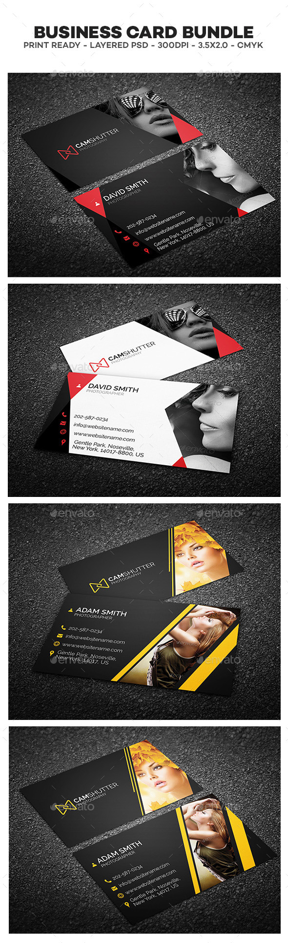 GraphicRiver Photography Business Cards Bundle 11865681