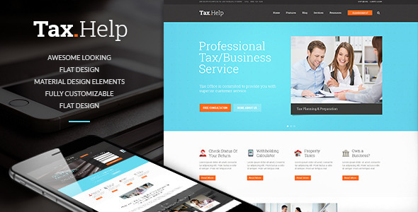 ThemeForest Tax Help Finance & Accounting WordPress Theme 11775370
