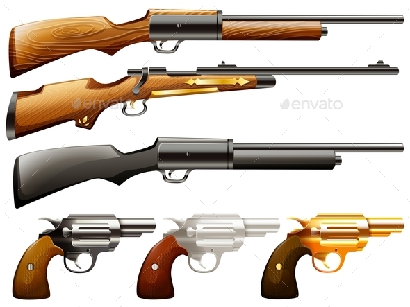 GraphicRiver Guns Set 11865989