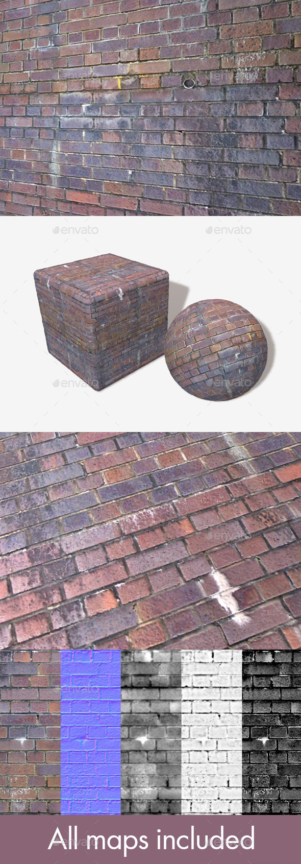 3DOcean Dirty Purple Bricks Seamless Texture 11865996