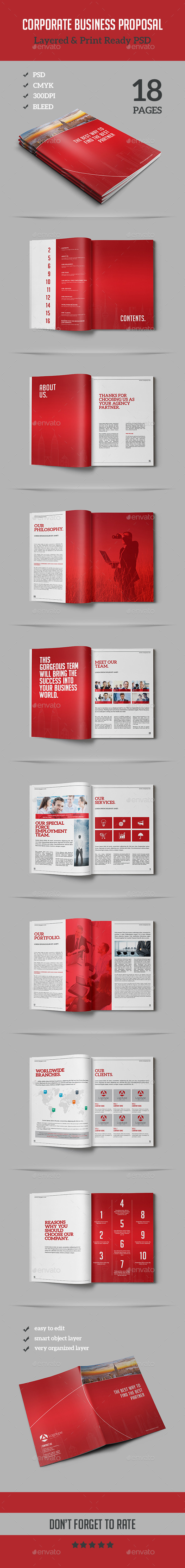 GraphicRiver Corporate Business Proposal 11866004