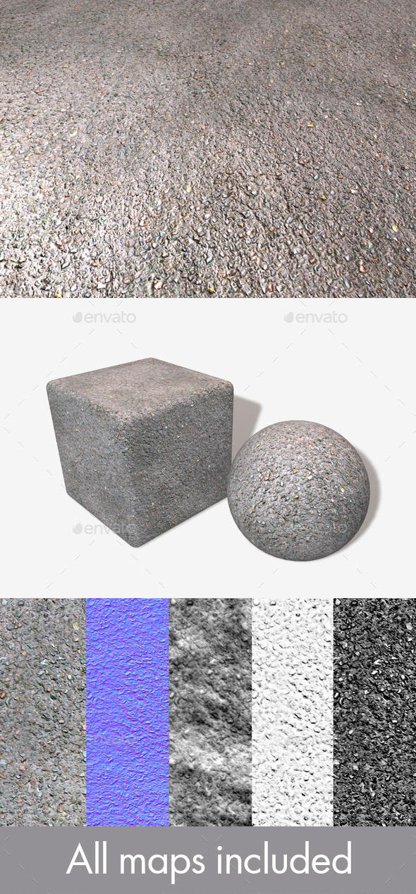 Wet Tarmac Seamless Texture - 3DOcean Item for Sale