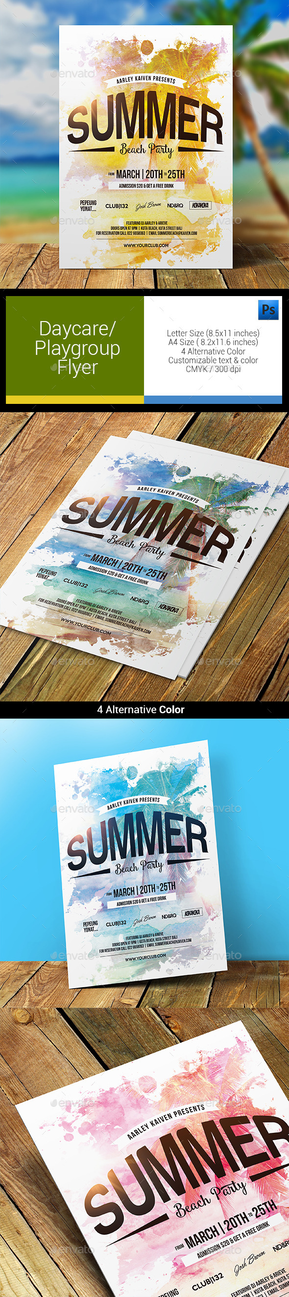 GraphicRiver Summer Beach Party Flyer 11866103