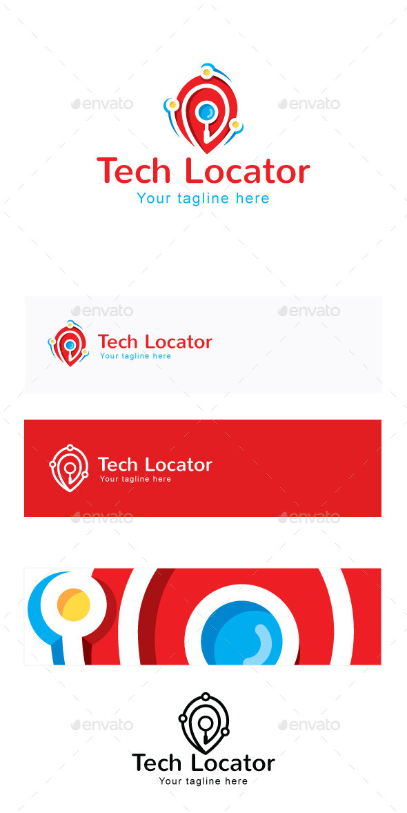GraphicRiver Tech Locator Stock Logo Template 11866122