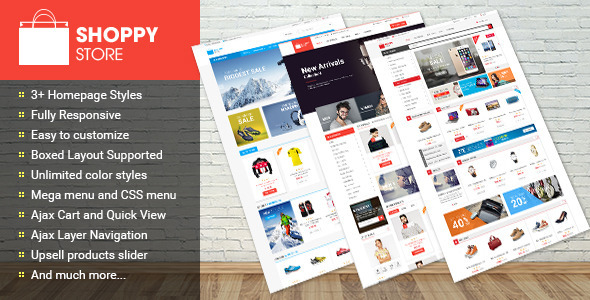 ThemeForest Shoppy Store Multipurpose Magento Theme 11666437