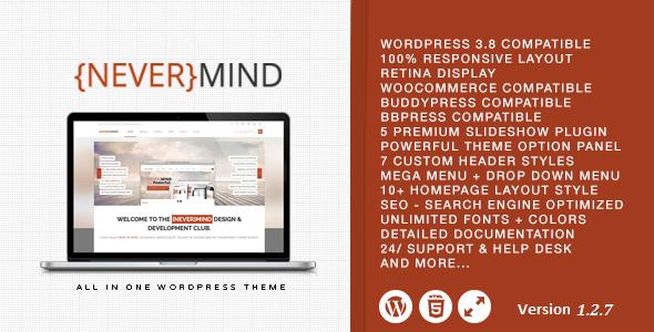 Nevermind - Multi Purpose Wordpress Theme - Corporate WordPress