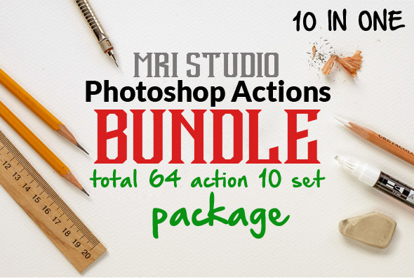 GraphicRiver Photoshop Action Bundle 11863808