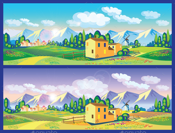 GraphicRiver Countryside in the Spring and Summer 11862554