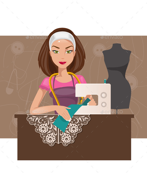 GraphicRiver Dressmaker Woman 11866685