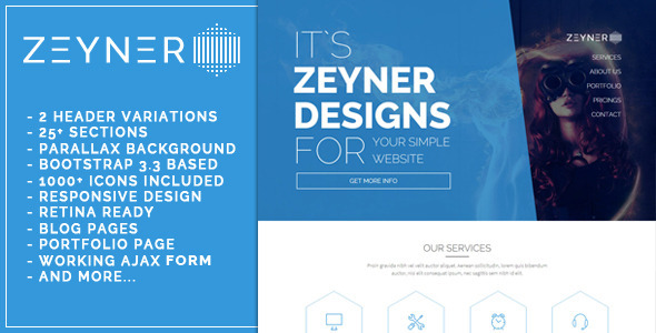 ThemeForest Zeyner Responsive Landing Page Template 11808250