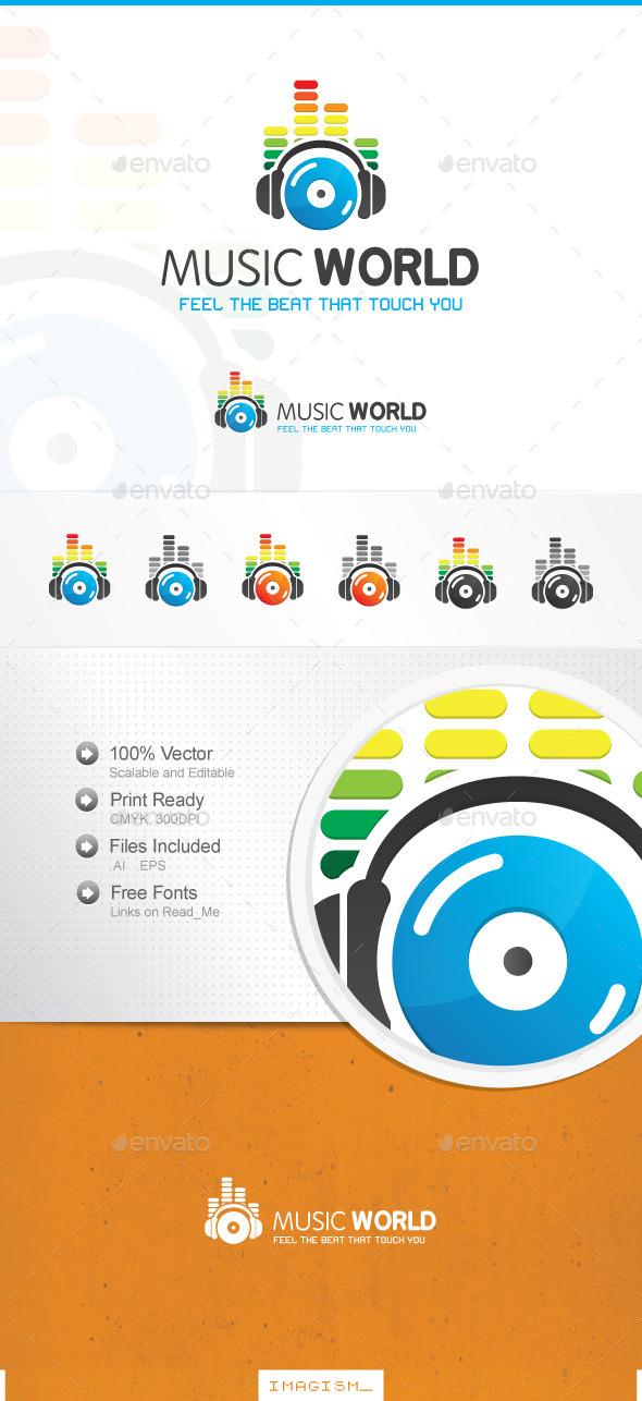 GraphicRiver Music World Logo 11866686