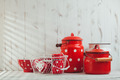 Red polka dot utensils - PhotoDune Item for Sale