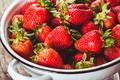 Strawberries in colander - PhotoDune Item for Sale