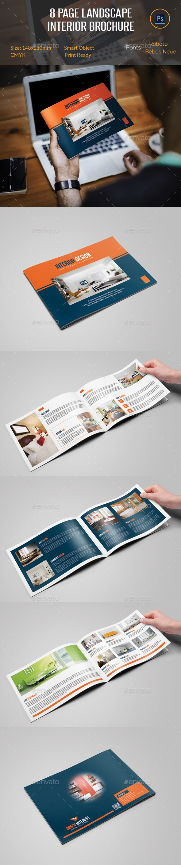 GraphicRiver 8 Pages Landscape Interior Brochure 11867032