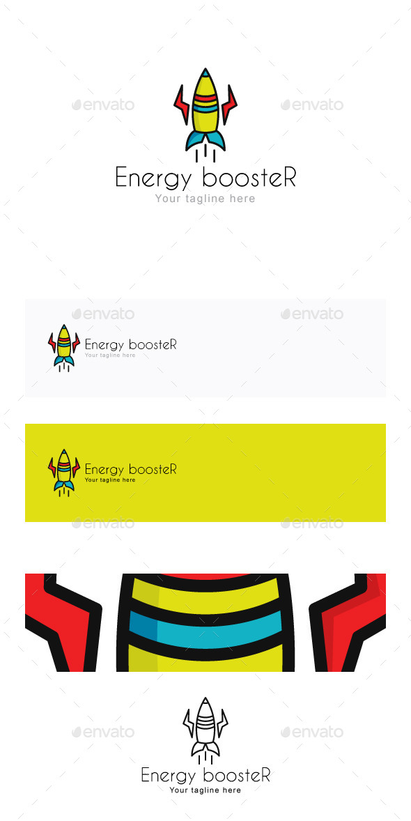 GraphicRiver Energy boosteR Stock Logo Template 11867034