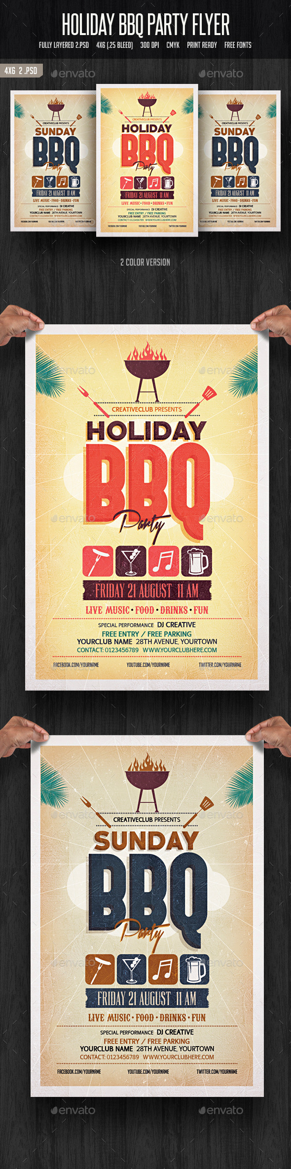GraphicRiver Holiday BBQ Party Flyer 11867088