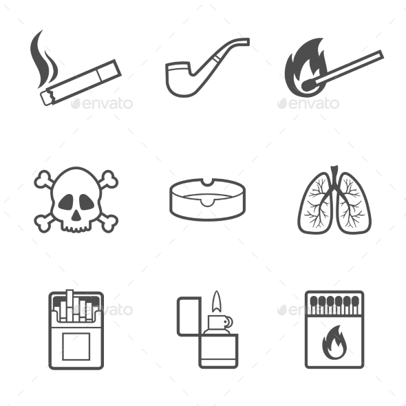 GraphicRiver Smoking Elements 11867090
