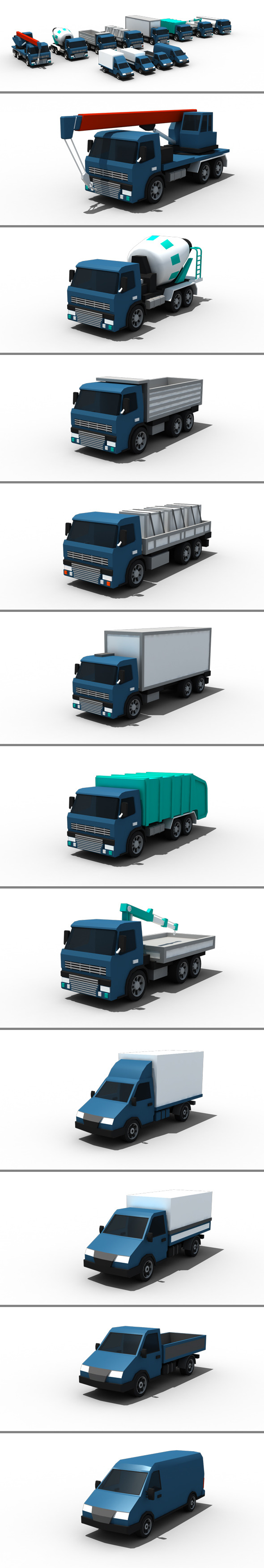 3DOcean Low Poly Cars Pack 11867234