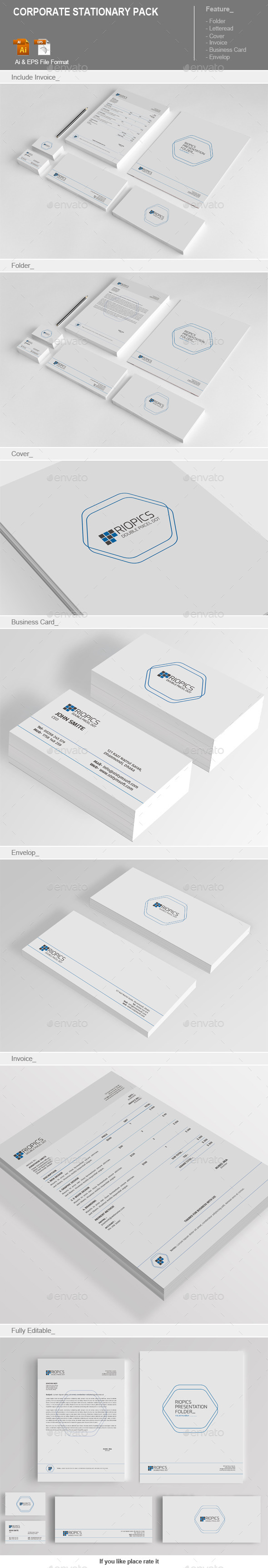 GraphicRiver Corporate Stationary Pack 11867310