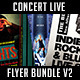 Concert Live Flyer Bundle V2 - GraphicRiver Item for Sale