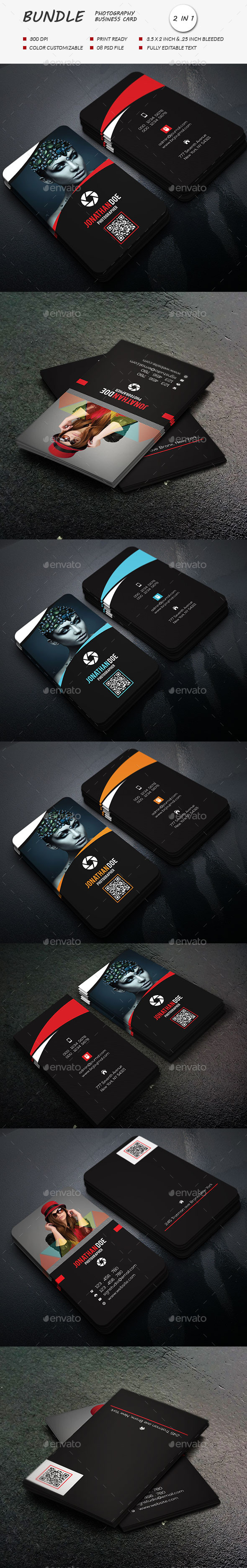 GraphicRiver photography business card Bundle 11867689