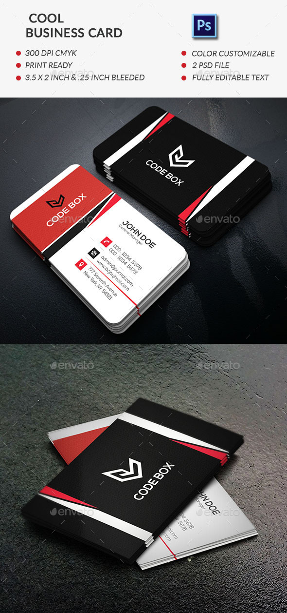 GraphicRiver Cool Business Card template 11867942