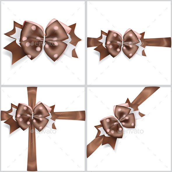 GraphicRiver Brown Bows Made of Ribbons 11867962