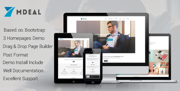ThemeForest Mdeal Responsive Business Drupal Theme 11804569