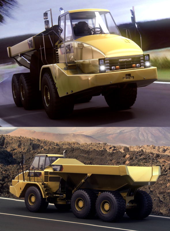 Caterpillar 725 Articulated Truck - 3DOcean Item for Sale