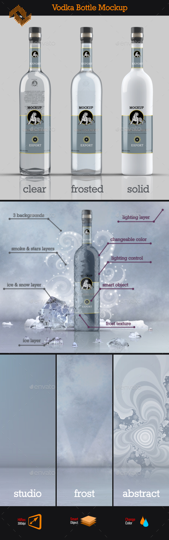 GraphicRiver Vodka Bottle Mockup Vol 4 11868170