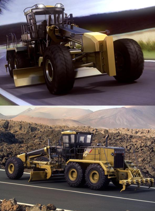 3DOcean Motor Mining Grader Caterpillar 16M 1191567